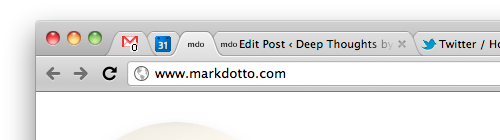 Chrome without bookmark bar