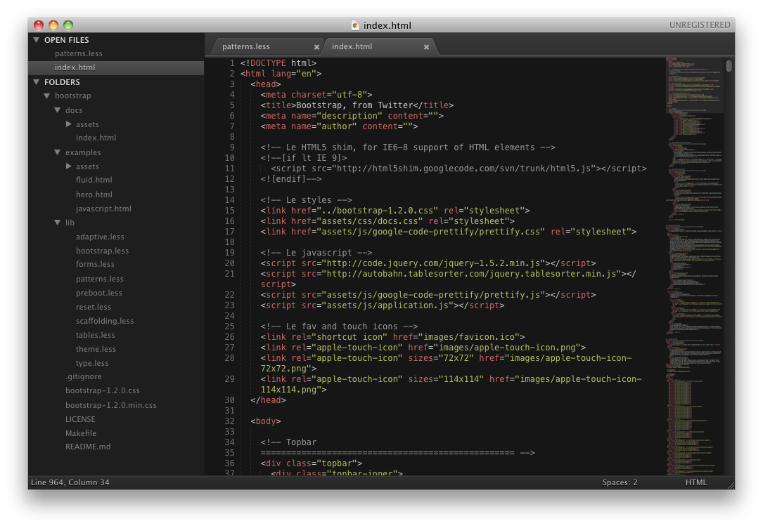 Sublime Text 2 for Mac