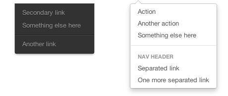 Designing dropdowns in Bootstrap · @mdo